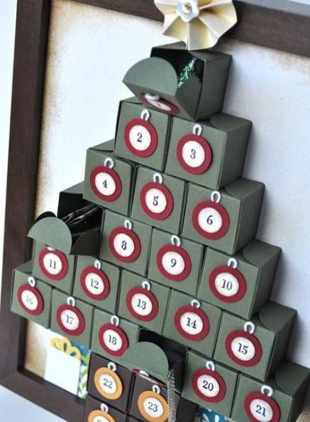 Fotos con ideas para Regalos de amigo invisible hechos a mano árbol de cajas