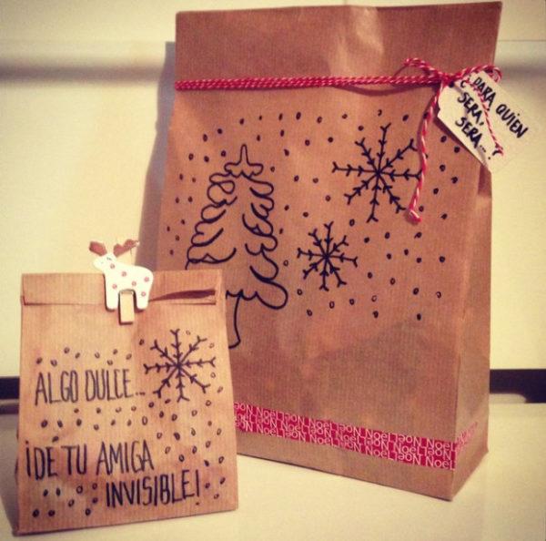 Fotos con ideas para Regalos de amigo invisible hechos a mano bolsa dulce
