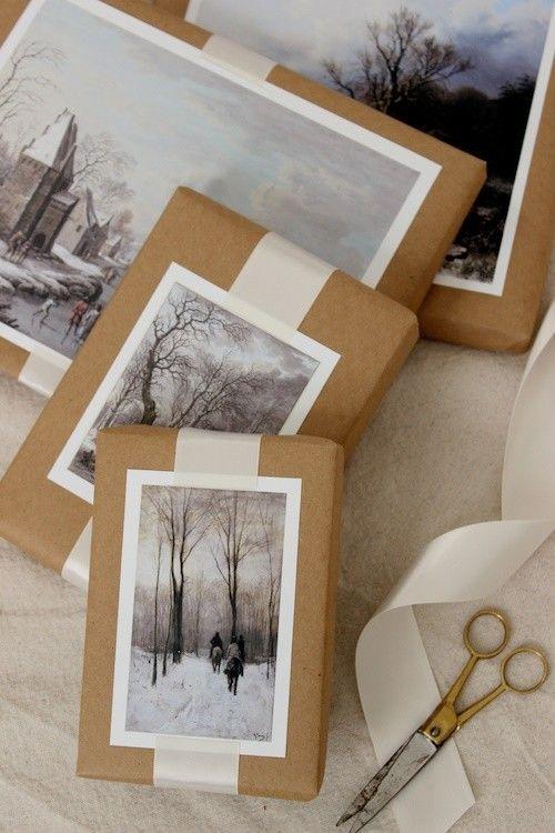 Fotos con ideas para Regalos de amigo invisible hechos a mano envoltorio nostalgia