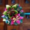 Bouquet de claveles en papel de seda