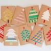 Elegantes tarjetas navideñas hechas a mano