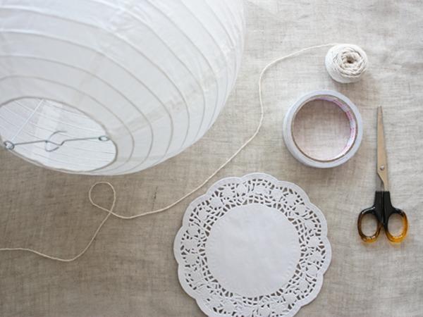 cómo-hacer-una-lampara-de-papel-materiales