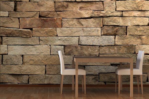 Revestimiento de paredes s mil piedra - Colocacion de papel pintado ...