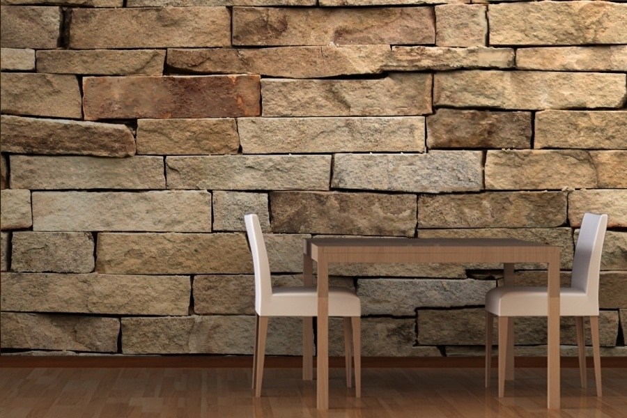 Revestimiento de paredes s mil piedra for Precio de papel para empapelar paredes