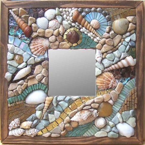espejos-decorados-como-decorar-un-espejo-de-madera-decorar-con-conchas