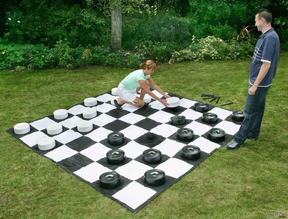 Juego-de-Damas-Como-fabricar-un-juego-de-damas-jardin-damas-tamaño-persona