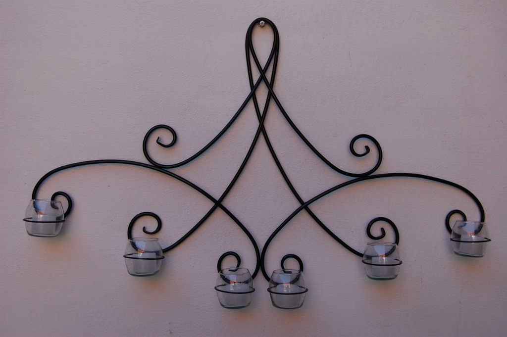 Candelabros c mo hacer candelabros materiales for Decoracion para pared en hierro