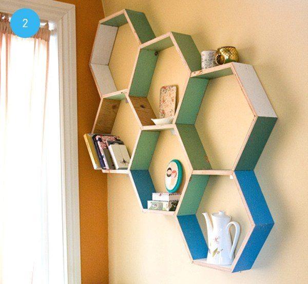 Cómo-hacer-repisas-con-forma-hexagonal
