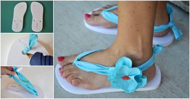 Sandalias-de-Mujer-Como-hacer-sandalias-sandalias-azules-flor
