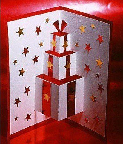 Tarjetas navidenas para hacer a mano paso a paso