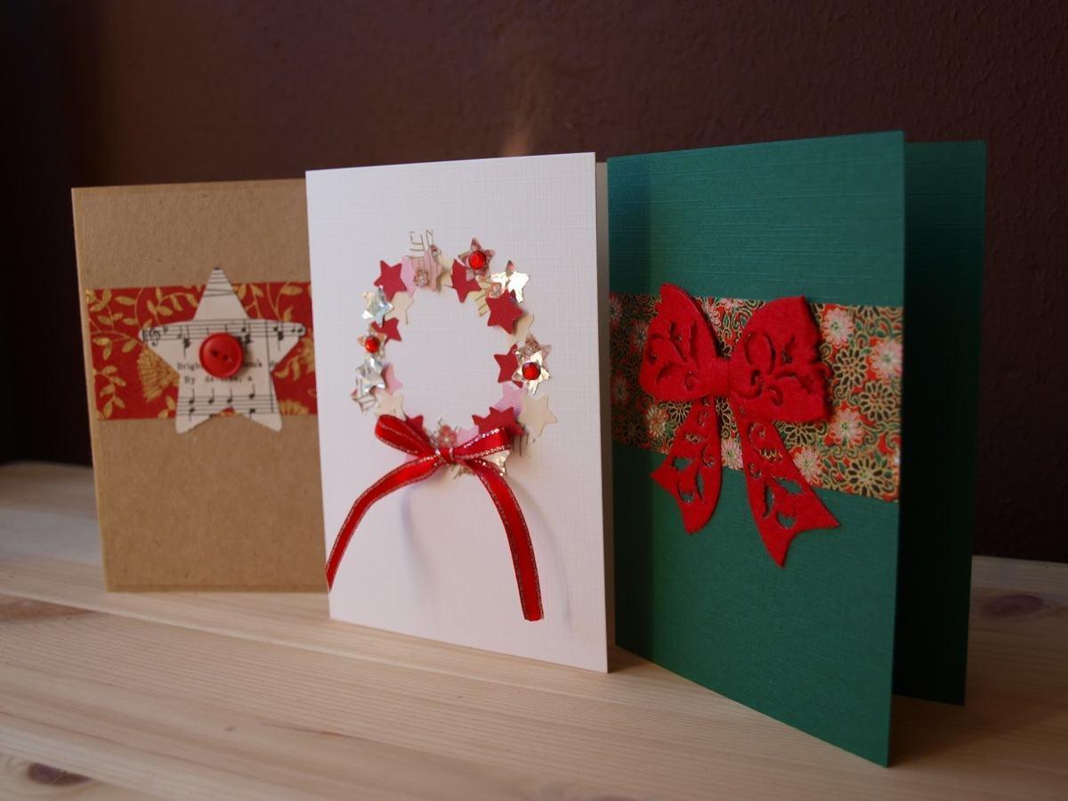 Otras ideas para hacer tarjetas de navidad artesanales - Como hacer targetas de navidad ...