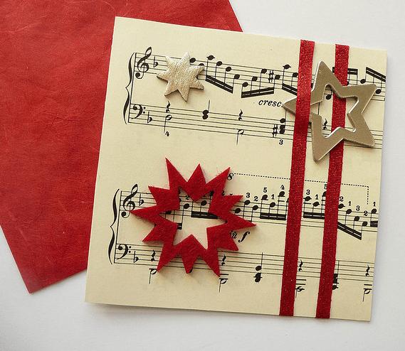 Elegantes tarjetas navide as hechas a mano 2016 - Tarjetas de navidad manuales ...
