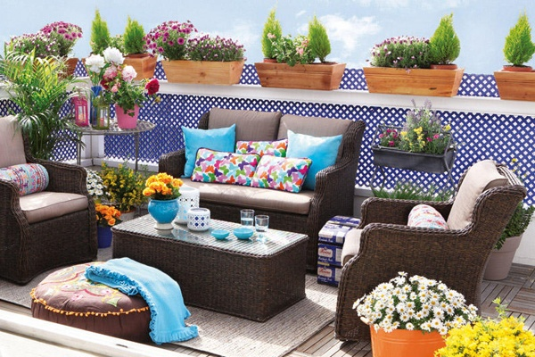 cojines para muebles de patio