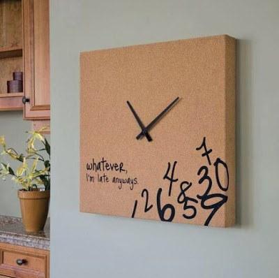 reciclar-una-caja-de-pizza-reloj
