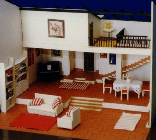 Bonitas maquetas de casas for Materiales para hacer un piso