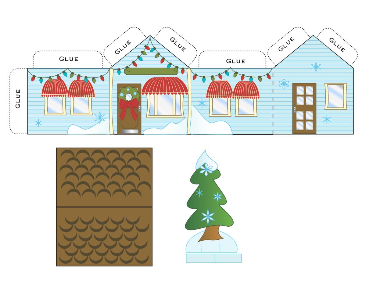 Bonitas maquetas de casas for Dibujos en techos de casas