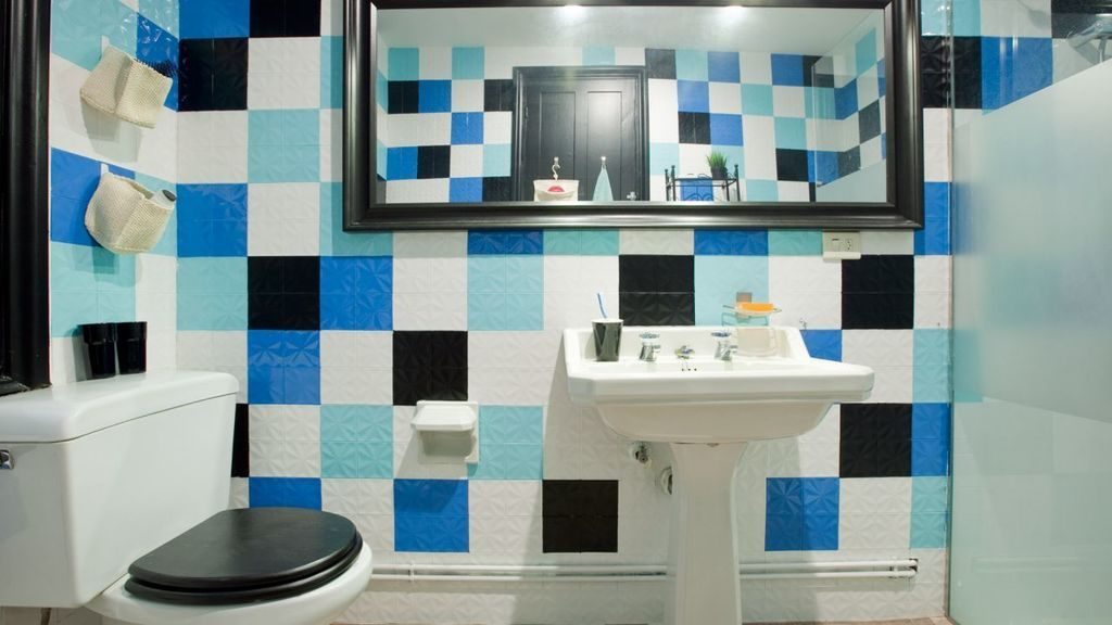 Pintura para azulejos madera tela y paredes - Pintura para azulejos bano ...
