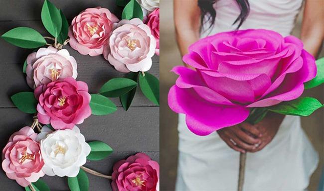 Flores De Papel Crepe Bricolaje 10