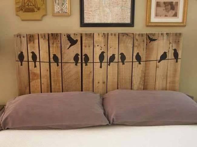 Cabeceros de cama con materiales reciclados for Cabeceros de cama con palets