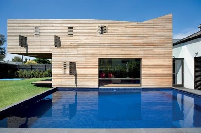 Fachadas modernas casa de madera arquitectura moderna 2 - Arquitectura casas modernas ...