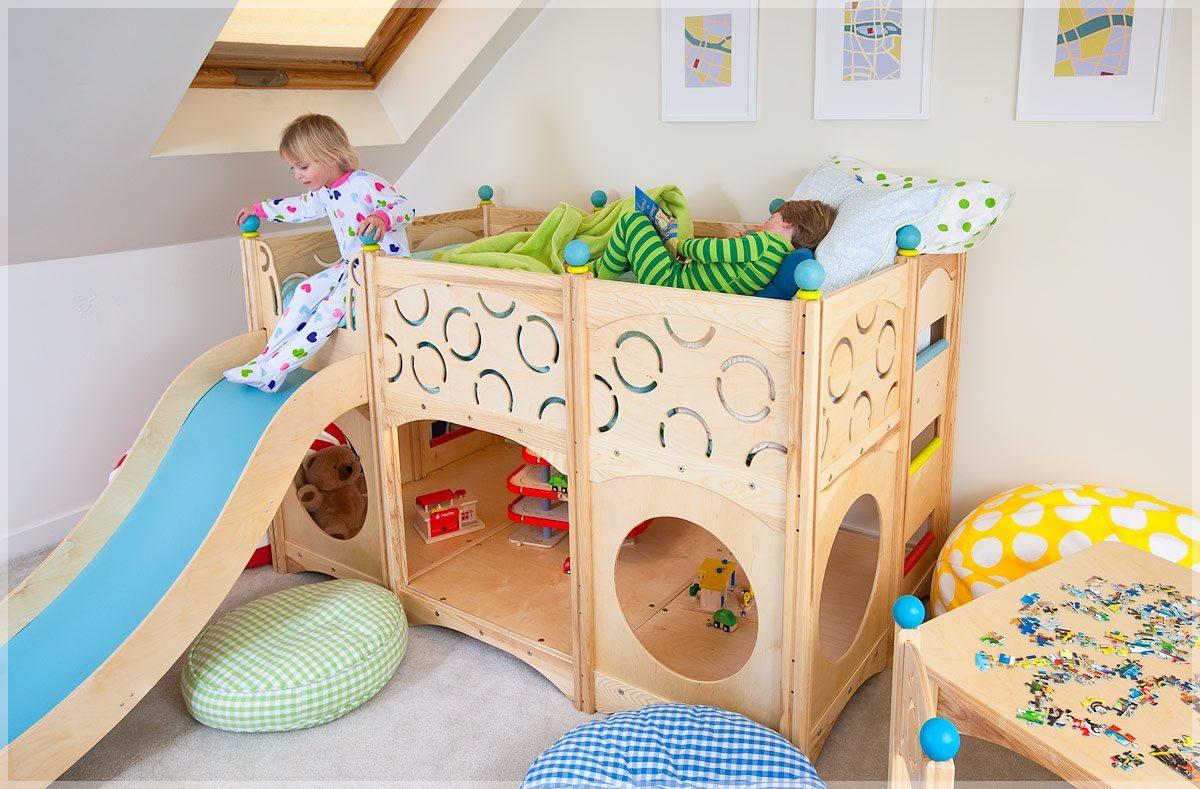 El uso de las camas de madera en la decoraci n del - Hacer una cama de madera ...