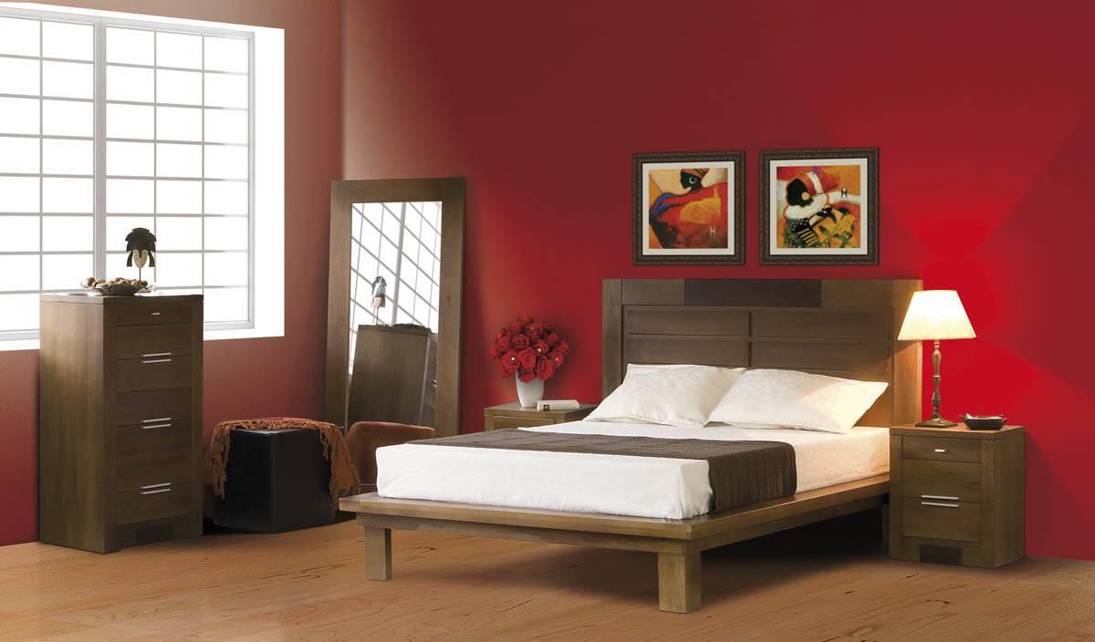 Camas de madera for Buros de cama modernos