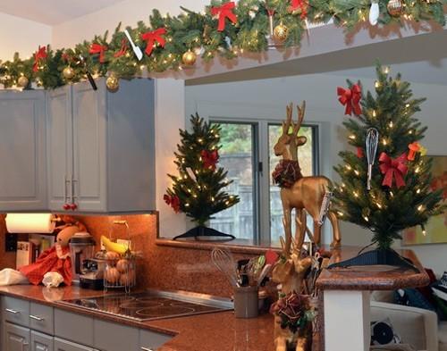 Decoracion navide a cocina 2014 for Adornos navidenos para oficina