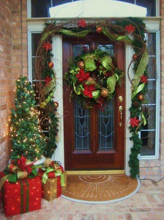 decoración con telas navideña