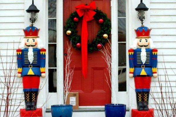 muñecos gigantes para puerta navideña