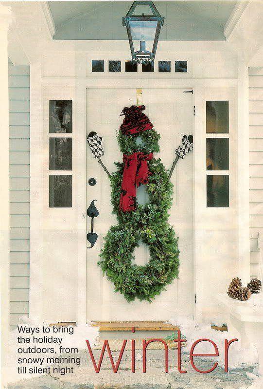 muñeco de pino puerta navideña