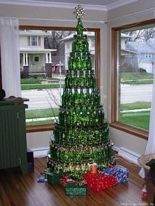 arbol navidad botellas