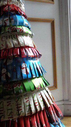 Como podemos hacer nuestro propio árbol de Navidad tiras papel