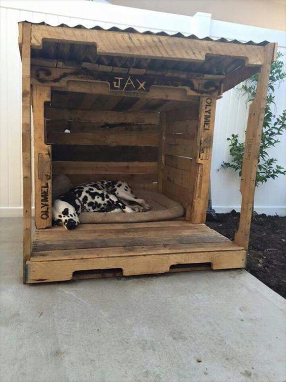 C mo hacer una caseta para perros paso a paso - Casas para perros con palets ...