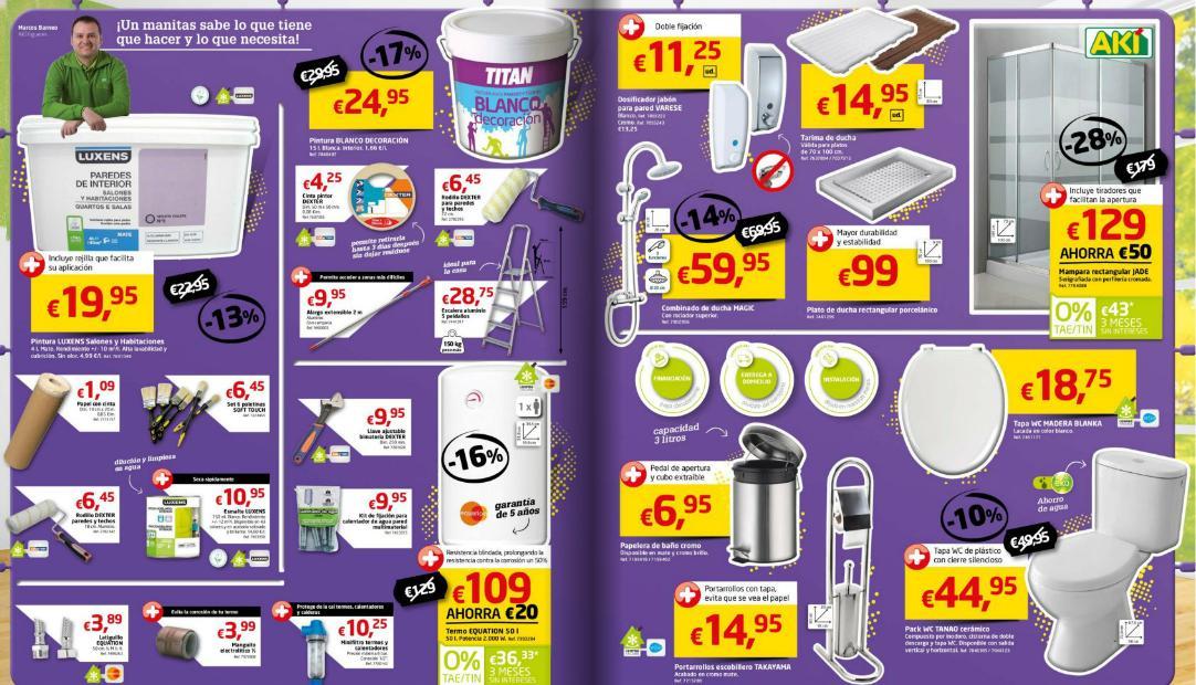 Accesorios De Baño Aki:catalogo-de-aki-para-agosto-2014-pintura-elementos-para-el-baño