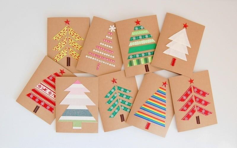 tarjetas navidenas hechas a mano