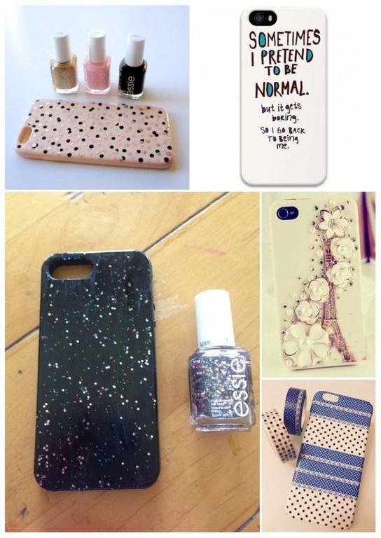 Diy c mo hacer una funda de m vil ideas y dise os - Como decorar una funda de movil ...