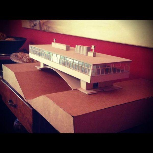 maqueta puente papel