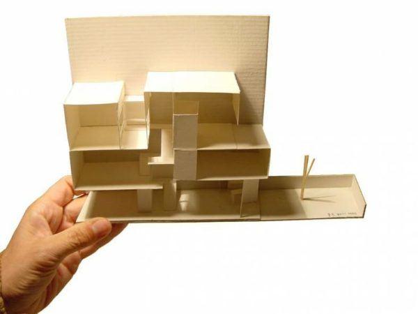 maqueta de casa papel
