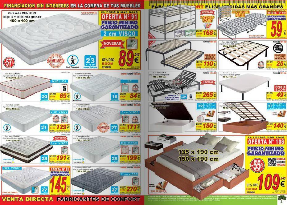 Catalogo muebles boom 2014 colchones for Muebles boom catalogo