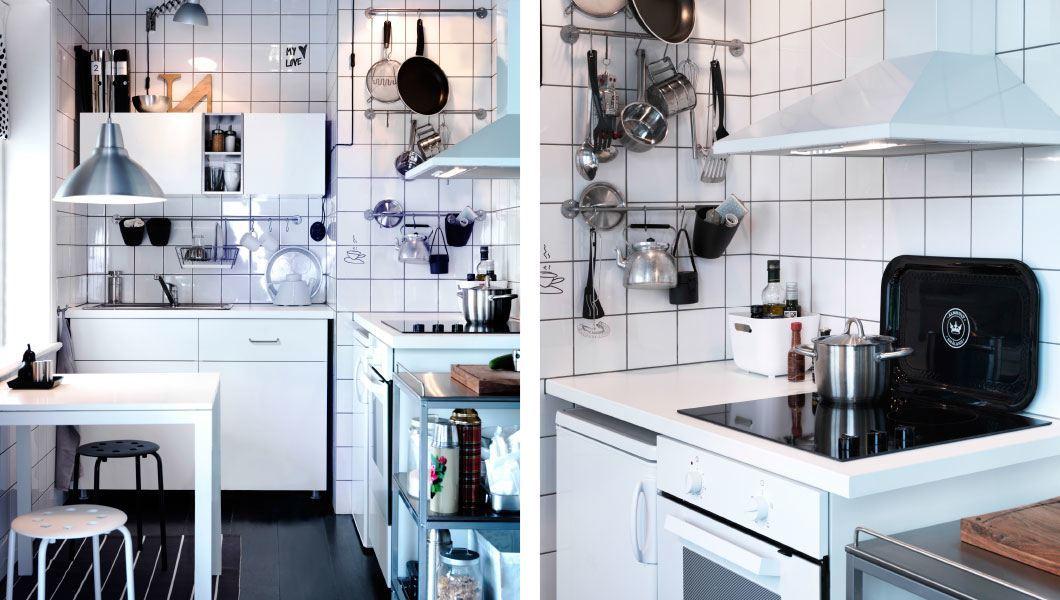 Cocinas modernas catalogo ikea 2014 cocina peque a blanca - Cocina pequena ikea ...