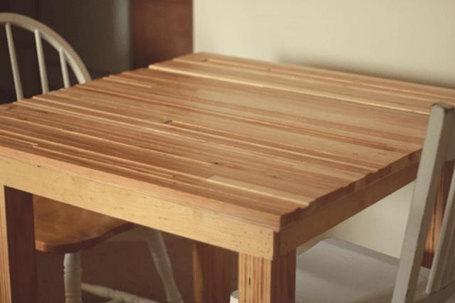 Muebles de cocina hechos a mano mesa de cocina de madera - Mesas de madera hechas a mano ...