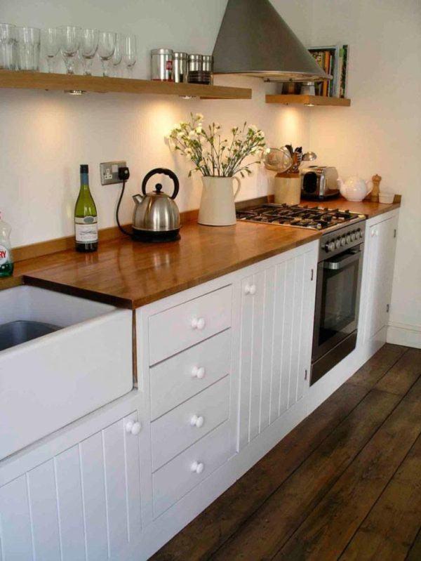 Muebles de cocina hechos a mano Pintar encimera cocina