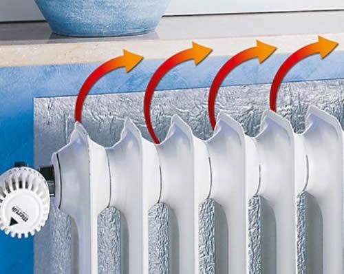 como-mantener-la-casa-caliente-en-invierno-papel-de-aluminio-detrás de-los-radiadores
