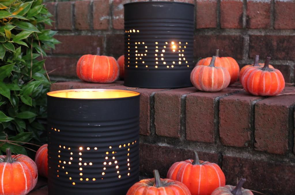halloween latas lámparas
