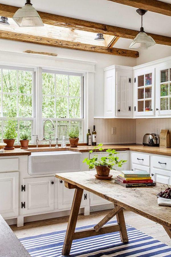 Decoraci n de cocinas r sticas con encanto - Cocinas blancas rusticas ...