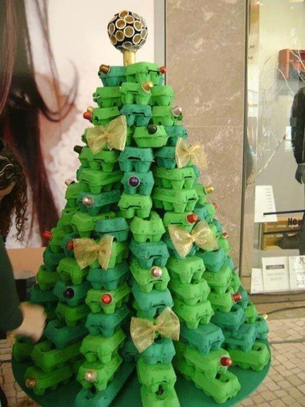 ideas de como hacer un arbol de navidad Cmo Hacer Un Rbol De Navidad Con Material Reciclado