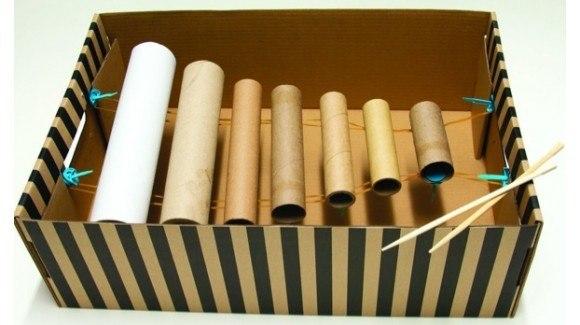 Instrumentos-con-materiales-reciclados-xilófono