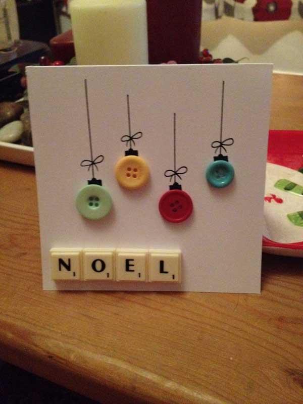 Tarjetas de navidad artesanales con botones - Tarjetas de navidad artesanales ...