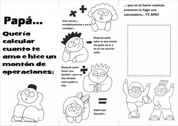 Dibujos para colorear para el día del padre - Bricolaje10.com