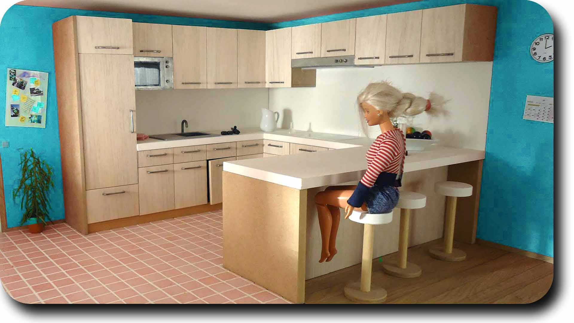 Casa barbie for Decoracion de casas hechas a mano